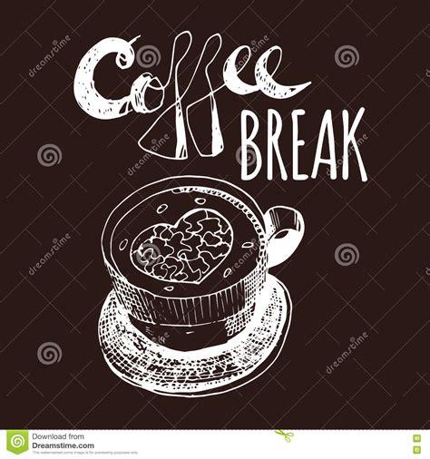 home design coffee break coffee break vintage hand drawn design elements for