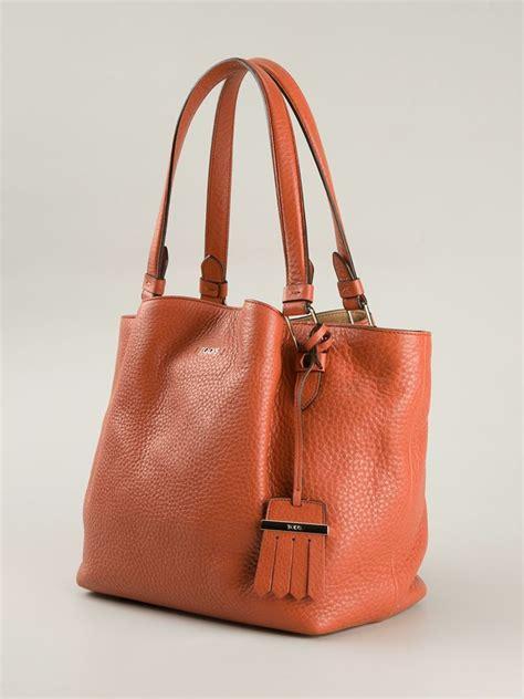 Flowery Tote Bag tod s medium flower tote bag in orange lyst