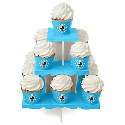 Baby Shower Cupcake Stand by Boy Baby Carriage Baby Shower Cupcake Stand 13 Cupcake