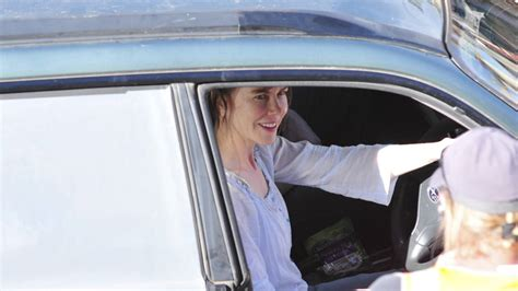 Kidman In On Set Car by Kidman In Canowindra At Work On The Set Of