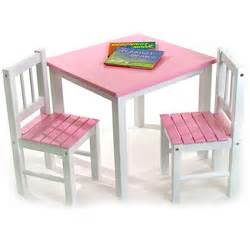 Desk And Chair Set For Toddlers Childrens Wooden Table And Chairs Pink Image