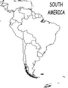 america outline map pdf south america