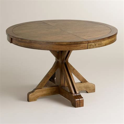 World Market Kitchen Table by To Oval X Base Extension Table World Market
