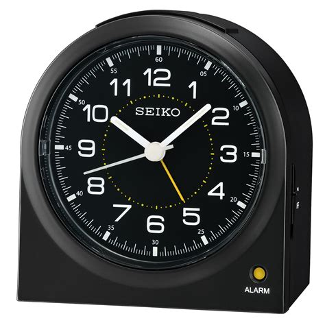 seiko bedside alarm with light and beep alarm with snooze qhe085klh home home decor