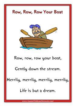 row row row your boat lyrics funny row row row your boat nursery rhymes pinterest