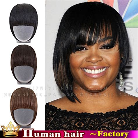 clip on bangs for african american hair human hair remy hair clip in bangs om hair