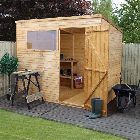 pent shiplap wooden shed departments diy  bq