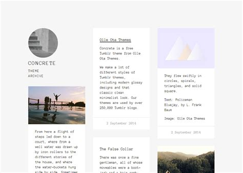 themes for tumblr simple olle ota themes free tumblr themes
