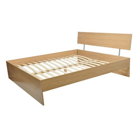 Ikea Wooden Bed Frame New Brown Wooden Bed Frame Ikea Standard 55 12 X 78 7 Quot Incl Slat Ebay
