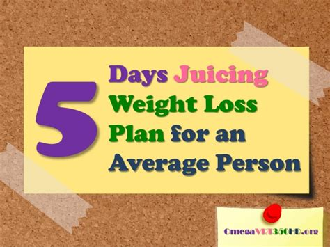 weight loss juicing plan 5 days juicing weight loss plan for an average person