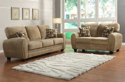 sofa couch set homelegance rubin sofa set brown textured microfiber