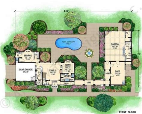 Small Courtyard House Plans Villa Di Vino Courtyard House Plan Small Luxury House