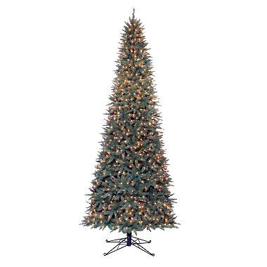 sams club slender christmas trees 12 sanford fir pre lit slim set 174 tree sam s club