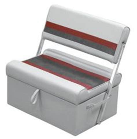 boat bench seat with storage deluxe pontoon flip flop seat light gray navy blue wise