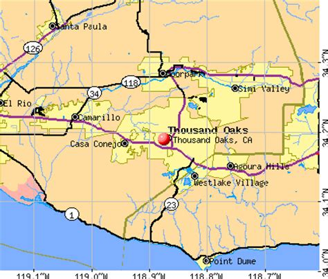 thousand oaks california map california map