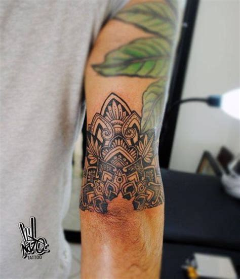 blackwork half mandala tattoo by nazo best tattoo ideas