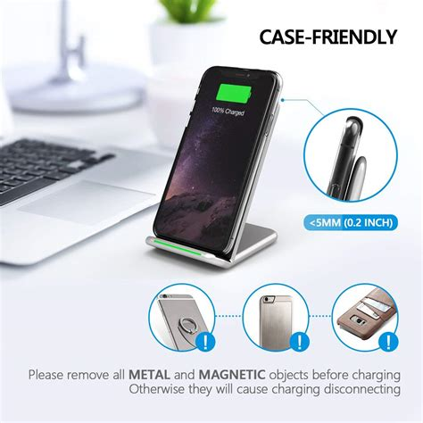seneo 10w qi fast wireless charger for iphone xs again available at discount