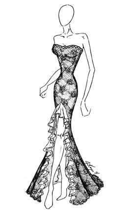 Johnathan Kayne Ombre Lace Ruffle Prom Dress 233: French Novelty