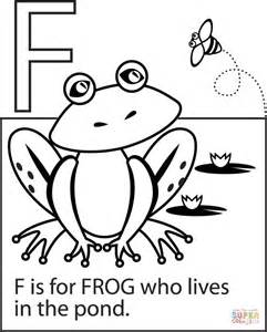F Frog Coloring Page by F Is For Frog Coloring Page Free Printable Coloring Pages