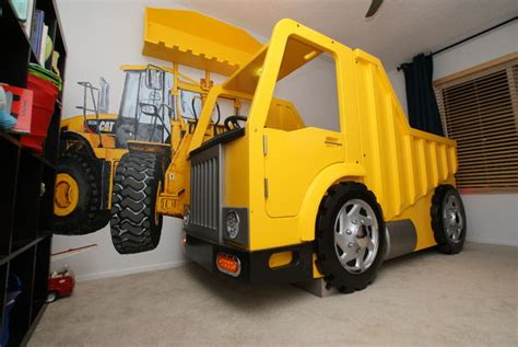 dump truck toddler bed building a dump truck bed with front loader book shelf
