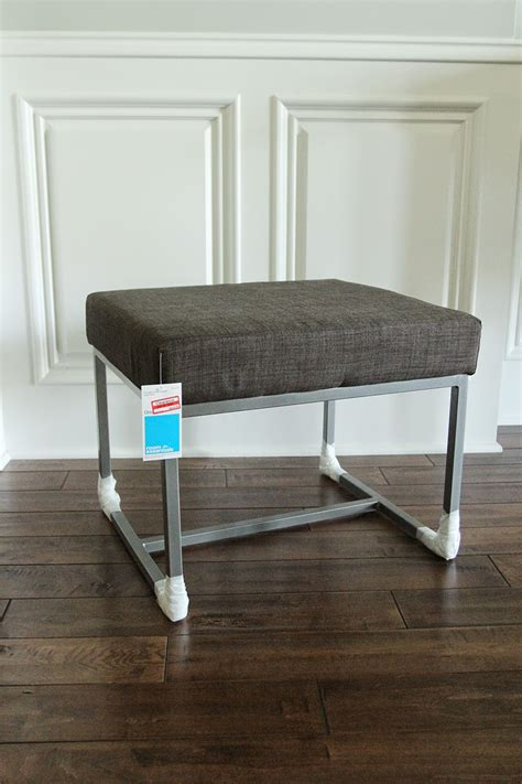 faux fur vanity stool makeover less than of