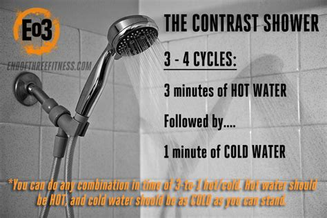benefits of contrast showers and cold showers