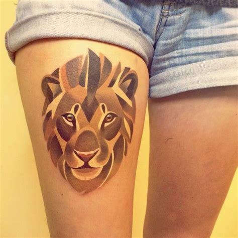 geometric animal tattoo lion geometric lion tattoo