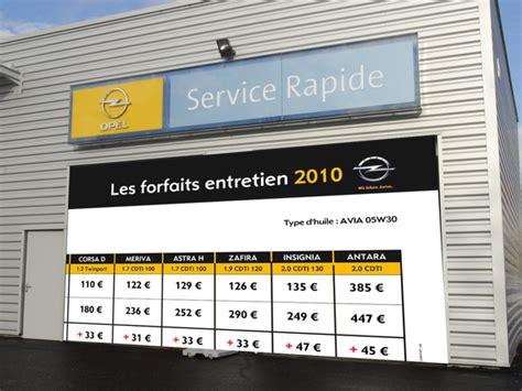 Tarif Horaire Garage Renault by Transparence Opel Met En Ligne Tous Les Tarifs D