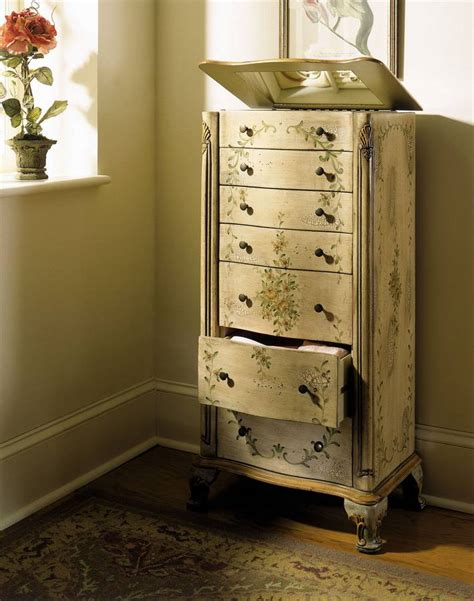 jewelry armoire on sale powell english garden antique white and sage jewelry