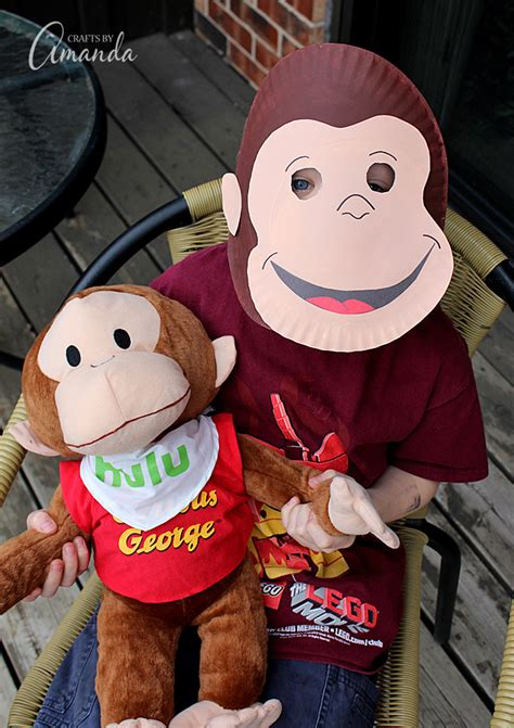 Paper Mask Martin curious george paper mask family crafts