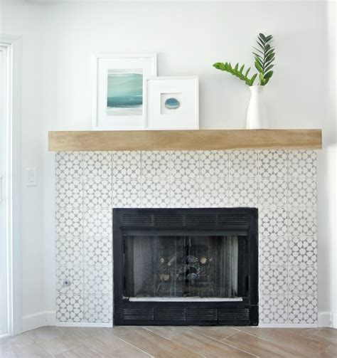 best tile for fireplace surround diy fireplace makeover centsational style