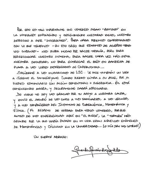 carta de perdon para migracion yahoo respuestas los verdaderos disidentes somos nosotros carta de gerardo