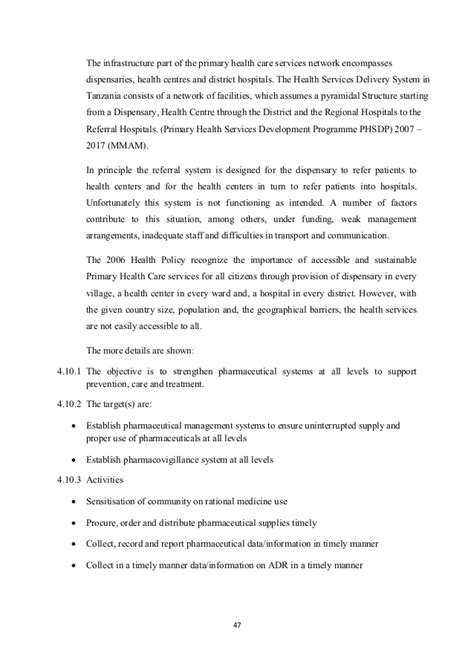 how to deworm a with tobacco essential package of health services country snapshot tanzania
