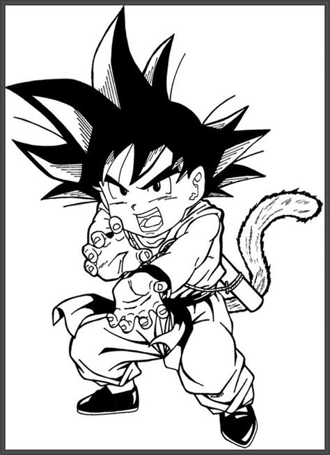 imagenes para pintar de dragon ball z dibujos de dragon ball z para colorear faciles archivos