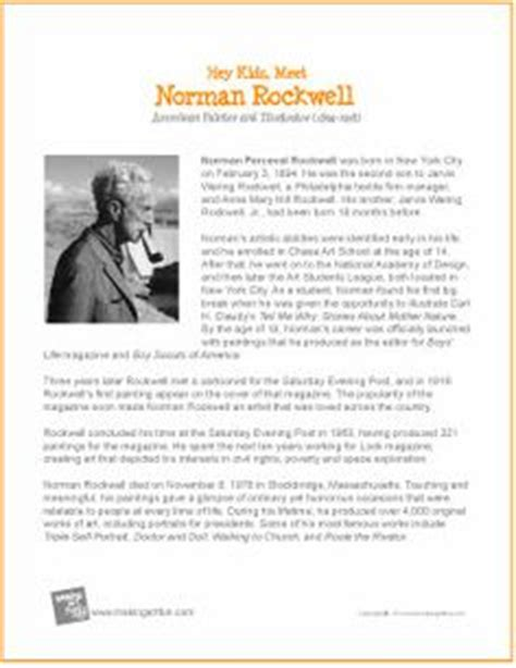 biography norman rockwell hey kids meet pablo picasso printable biography http