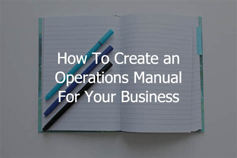 operations manual template for small business how to create an operations manual for your business