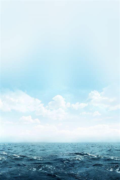 freeios ocean blue sky blue parallax hd iphone ipad