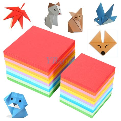 Sided Origami Paper Uk - 520pcs square folding lucky sheets mixed color