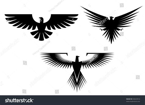 White Also Search For Eagle Symbol Isolated On White Also As Emblem Such A Logo Vector Version Also