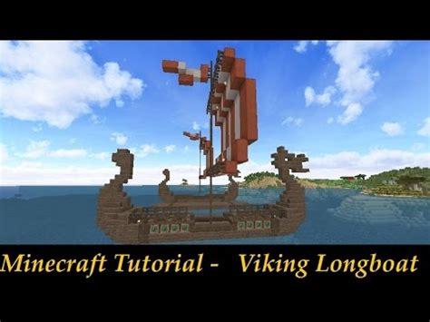 minecraft viking boat minecraft tutorial viking nordic long boat youtube