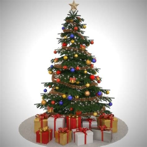 model christmas tree toy cgtrader