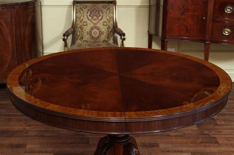48 round dining 48 quot round to 66 quot oval mahogany dining table reproduction