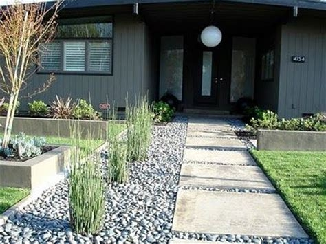 modern front yard landscaping mid century walkway modern landscape repeating elements