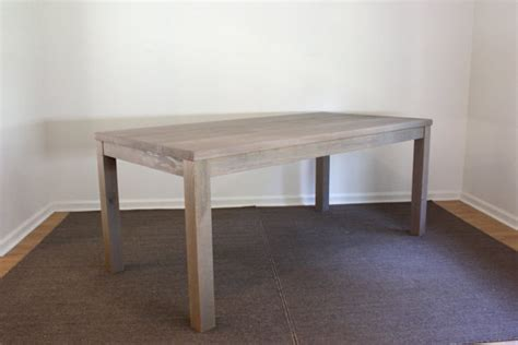 Gray Parsons Dining Table 72x30 Reclaimed Wood Gray Wood Dining Table