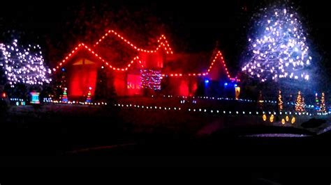 christmas light show in waterford michigan youtube