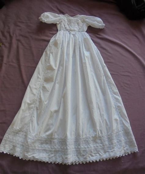 Handmade Christening Gowns - baby christening gown small size handmade