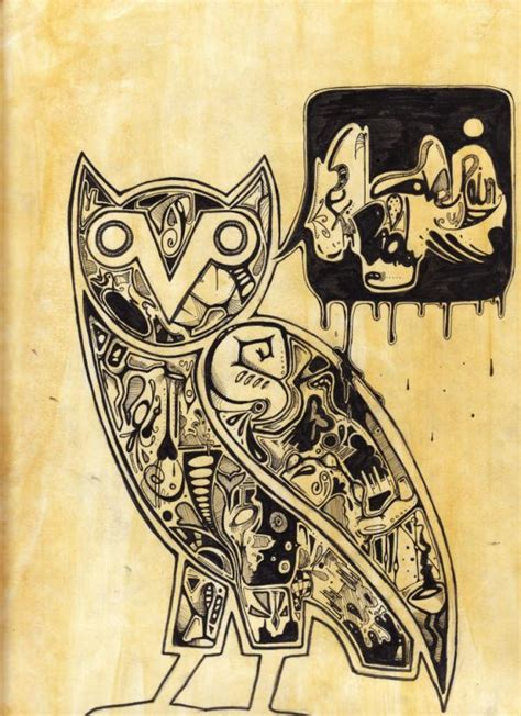 ovoxo tattoo owl ovo iphone wallpaper wallpapersafari