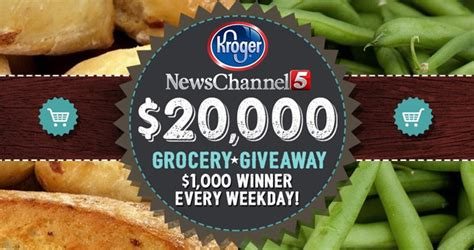 Grocery Giveaway Sweepstakes - news channel 5 and kroger 20 000 grocery giveaway 2017