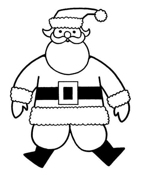 large santa coloring page learning years christmas coloring pages big christmas