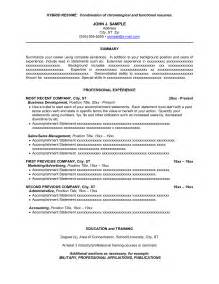 Combined Resume Exles by Sle Combination Resume Getessay Biz
